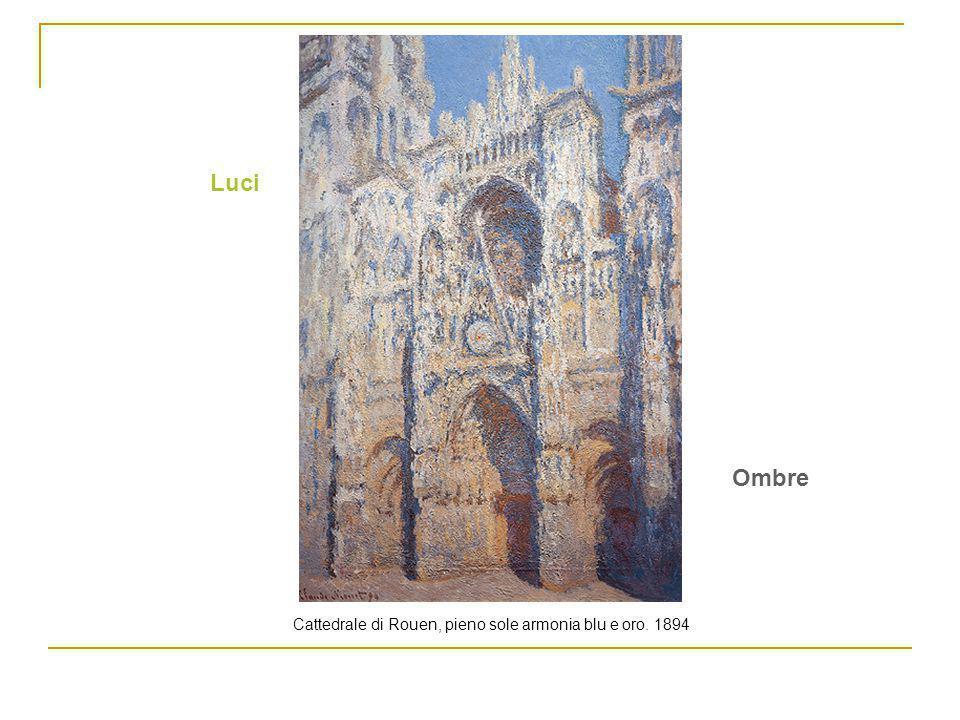 Cattedrale di Rouen, pieno sole armonia blu e oro. 1894