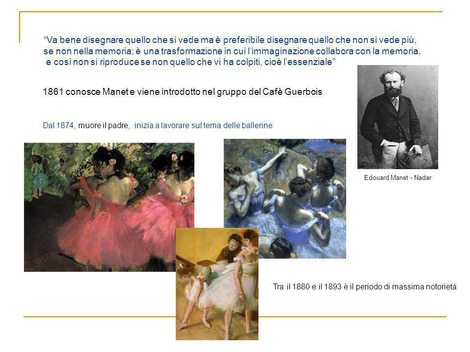 1861 conosce Manet e viene introdotto nel gruppo del Cafè Guerbois