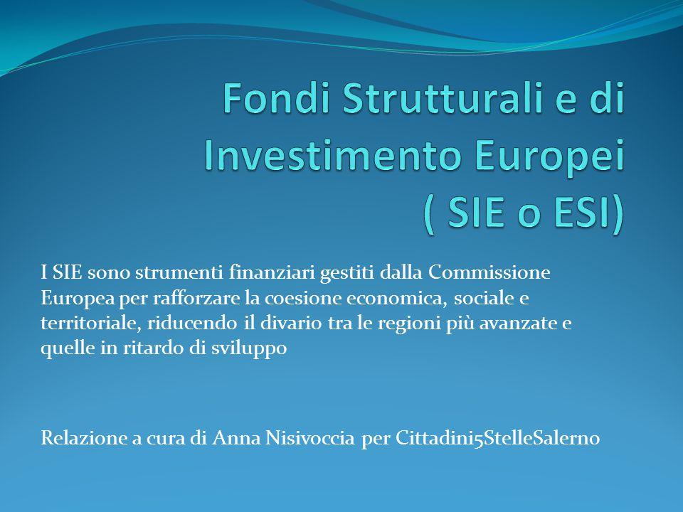 Fondi Strutturali e di Investimento Europei ( SIE o ESI)