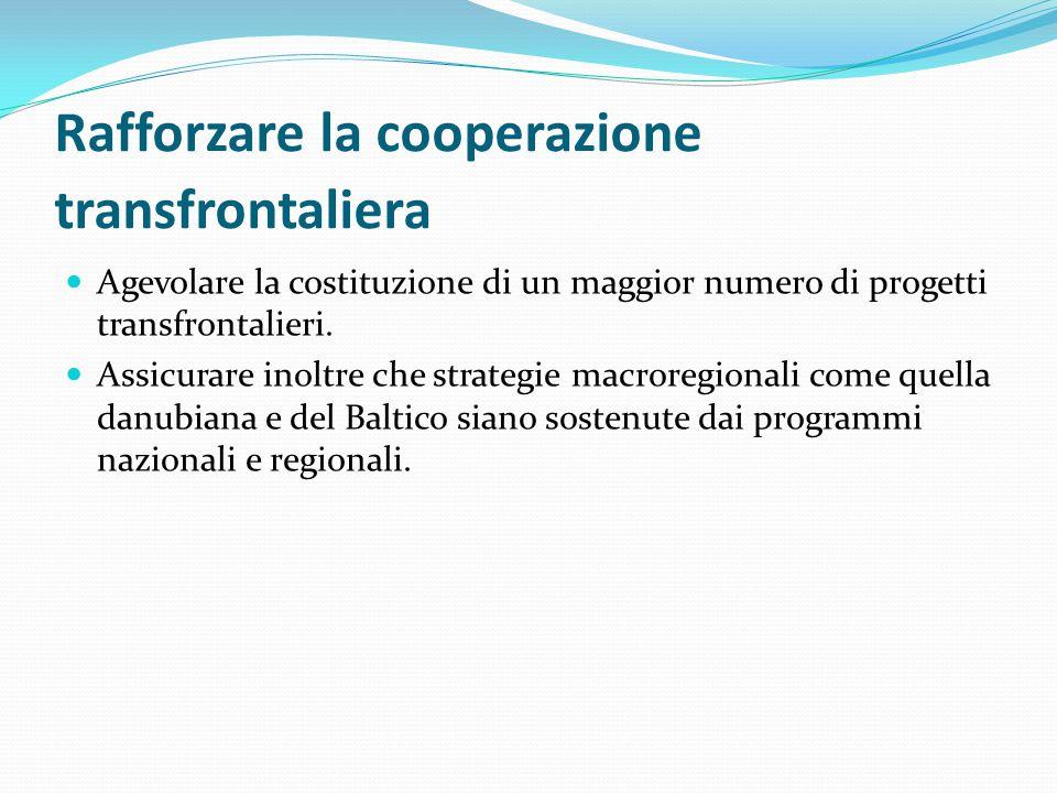 Rafforzare la cooperazione transfrontaliera