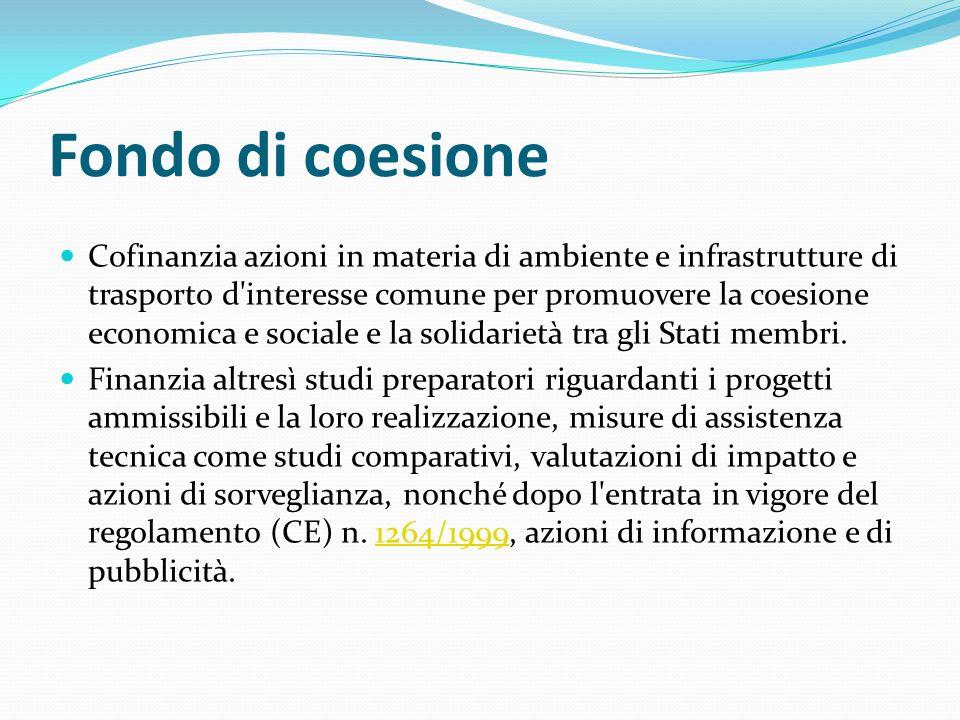 Fondo di coesione