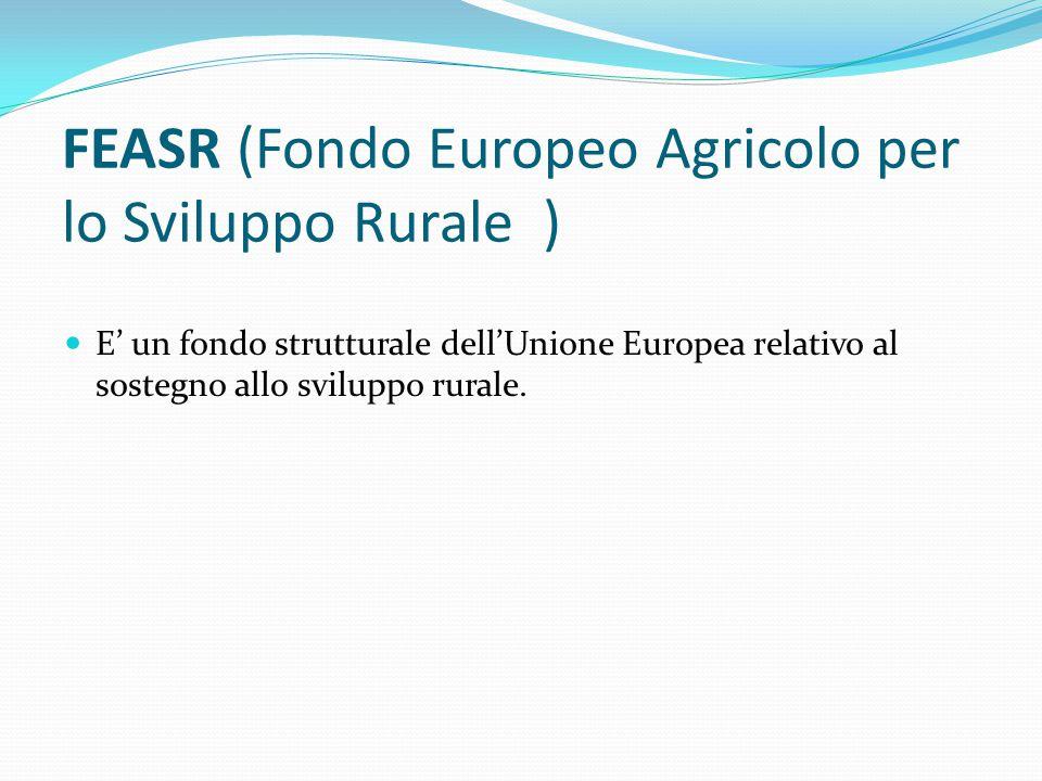 FEASR (Fondo Europeo Agricolo per lo Sviluppo Rurale )