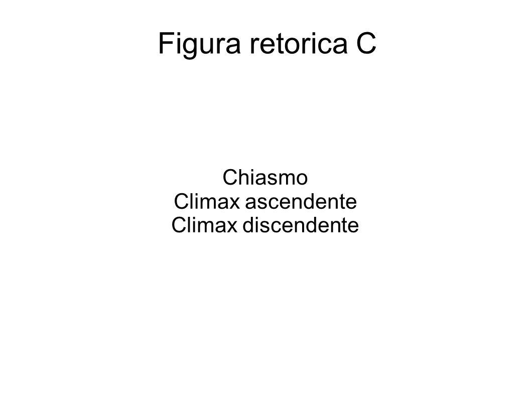 Chiasmo Climax ascendente Climax discendente