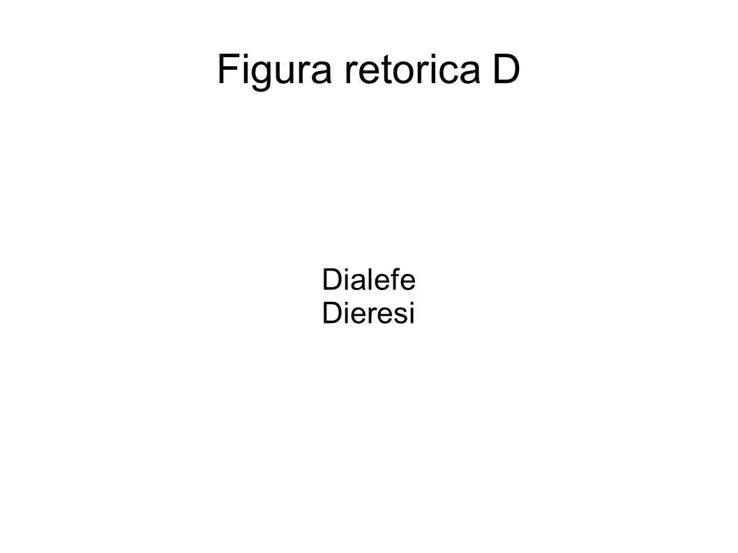 Figura retorica D Dialefe Dieresi