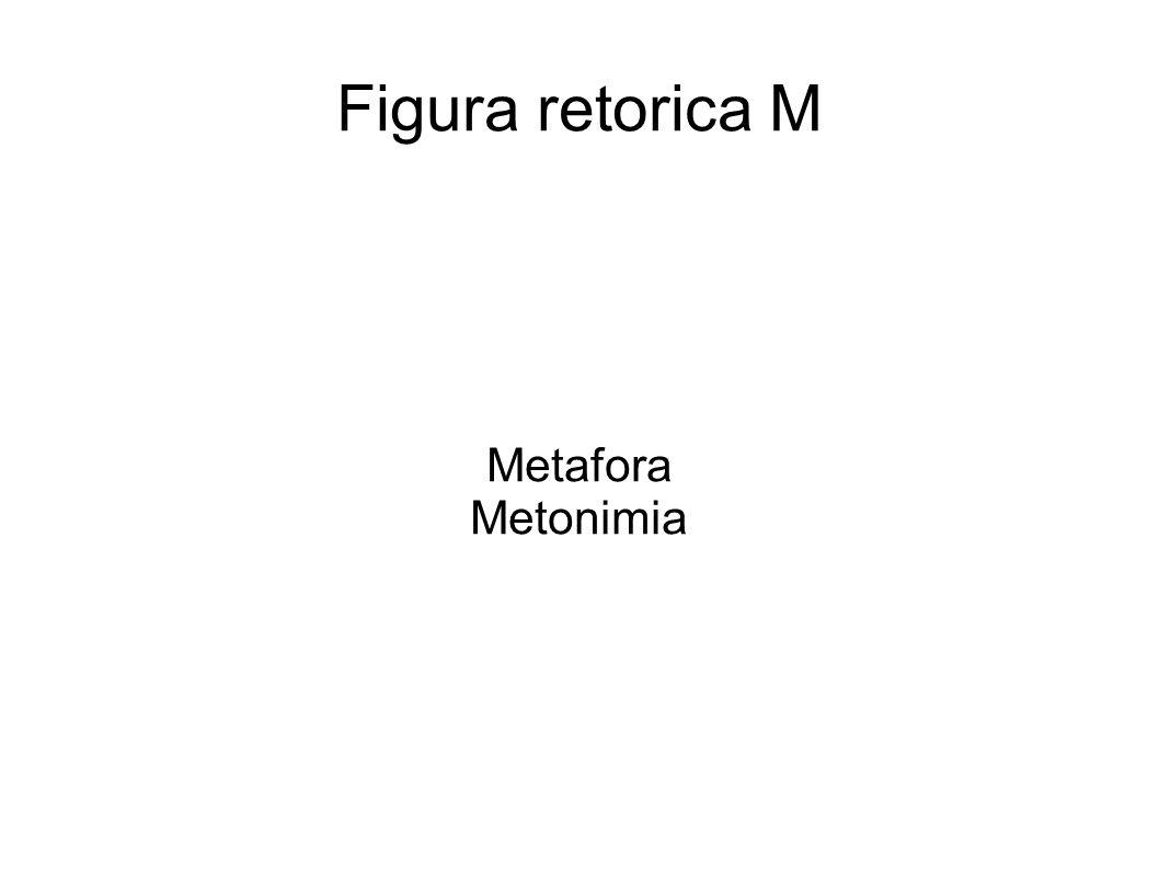 Figura retorica M Metafora Metonimia