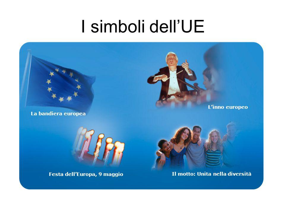 I simboli dell'UE L'inno europeo La bandiera europea