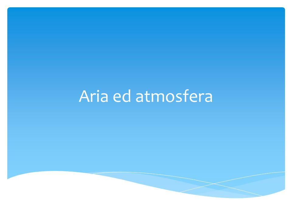 Aria ed atmosfera