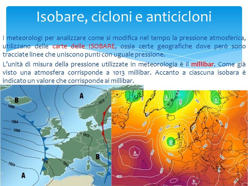 Isobare, cicloni e anticicloni