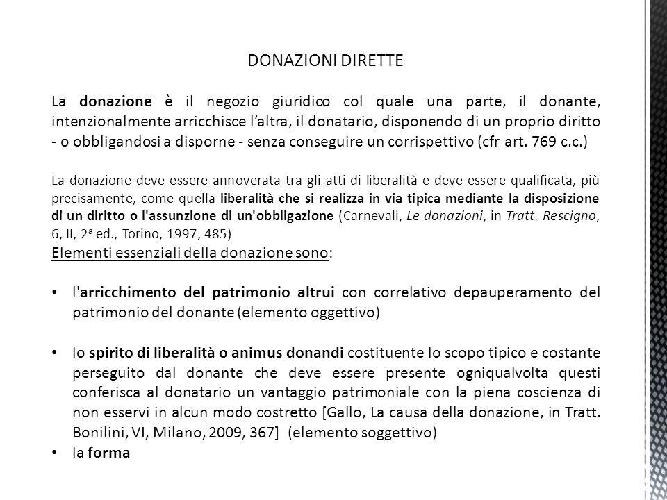 DONAZIONI DIRETTE