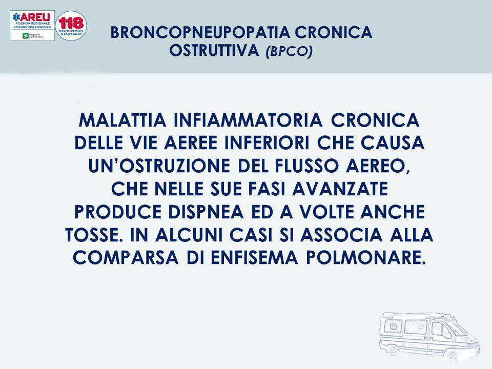 BRONCOPNEUPOPATIA CRONICA OSTRUTTIVA (BPCO)