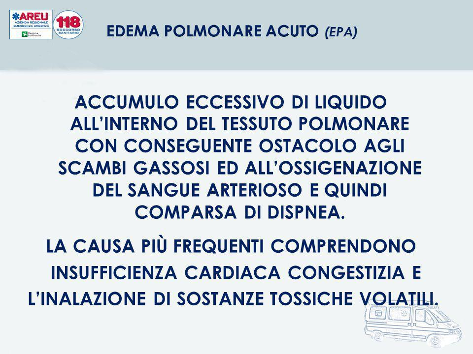EDEMA POLMONARE ACUTO (EPA)