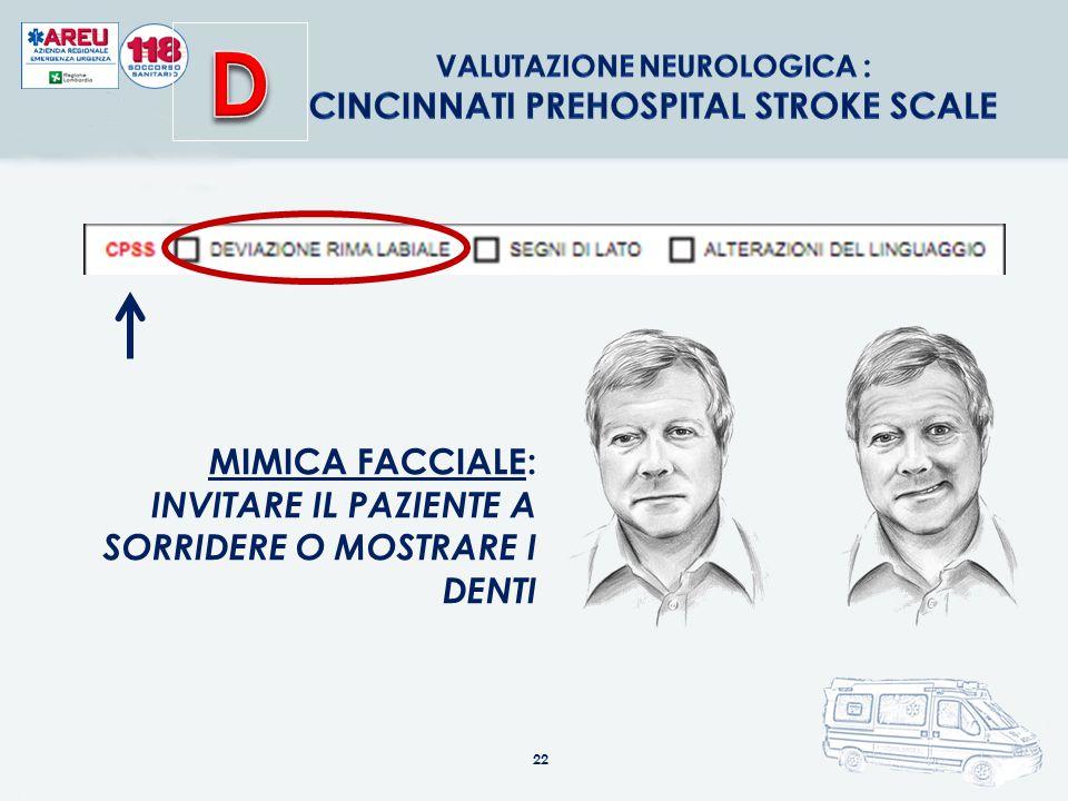 Valutazione neurologica : Cincinnati Prehospital Stroke Scale
