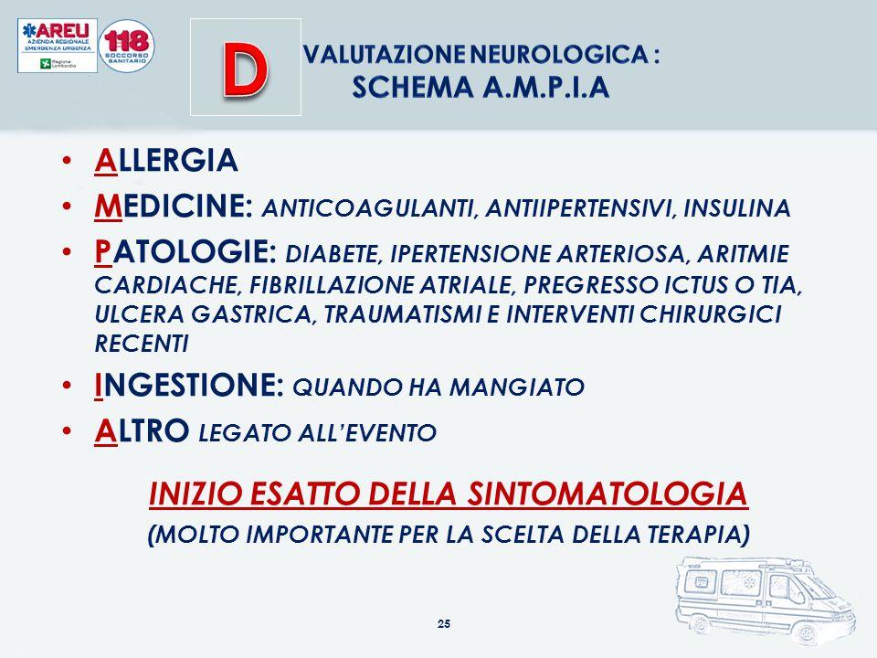 Valutazione neurologica :