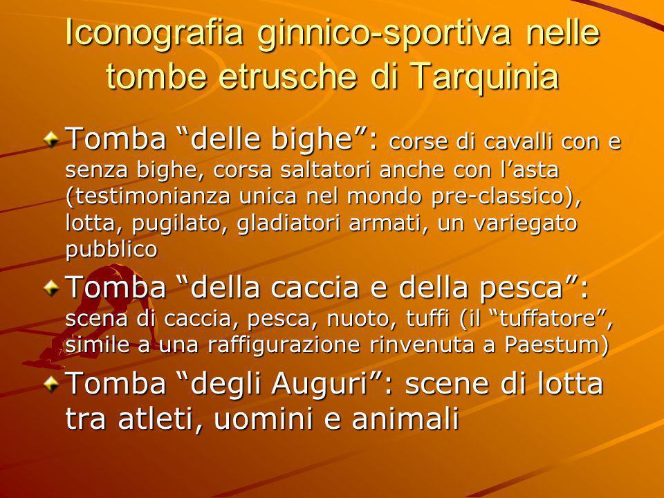 Iconografia ginnico-sportiva nelle tombe etrusche di Tarquinia