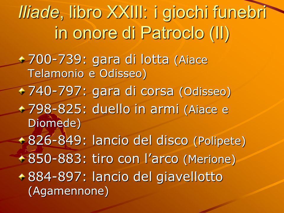 Iliade, libro XXIII: i giochi funebri in onore di Patroclo (II)
