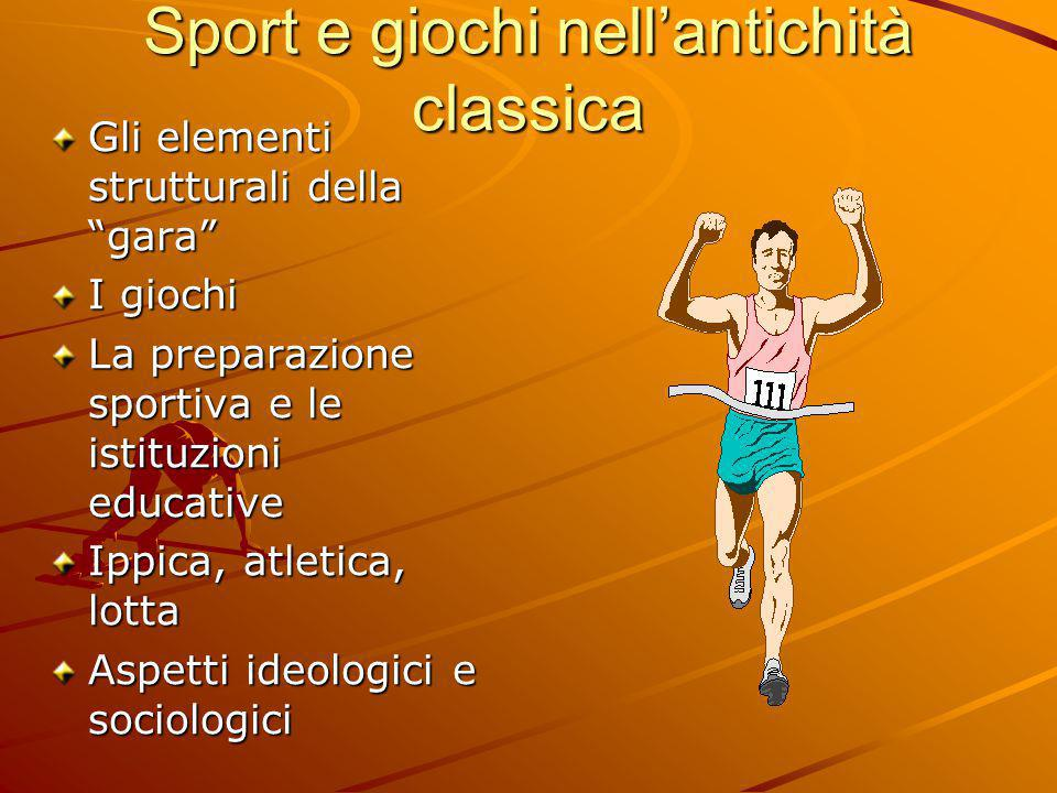 Sport e giochi nell'antichità classica