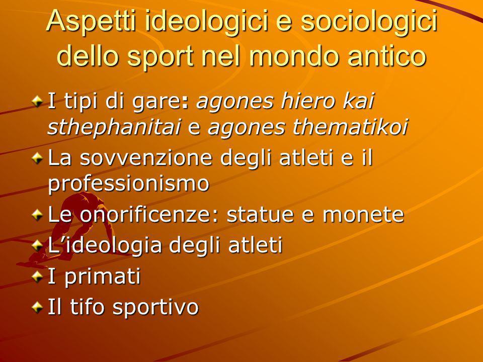 Aspetti ideologici e sociologici dello sport nel mondo antico