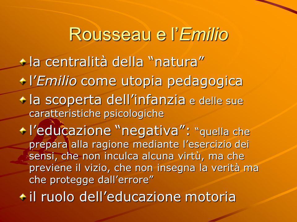 Rousseau e l'Emilio la centralità della natura