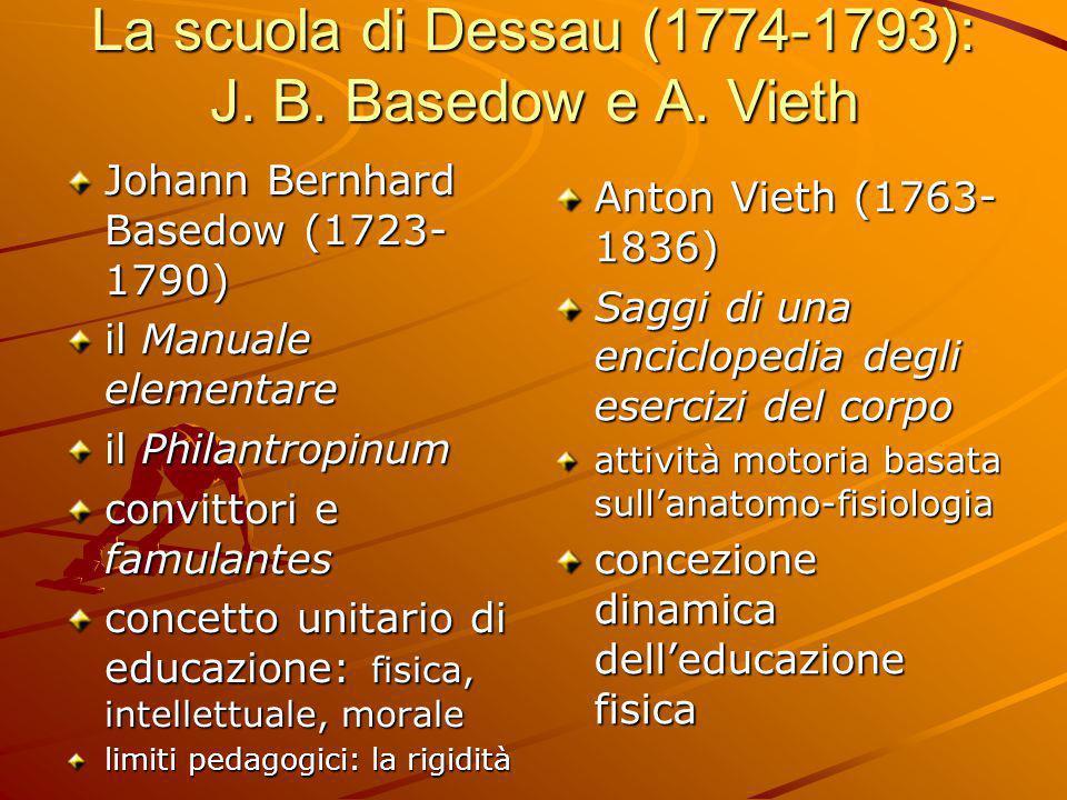 La scuola di Dessau (1774-1793): J. B. Basedow e A. Vieth