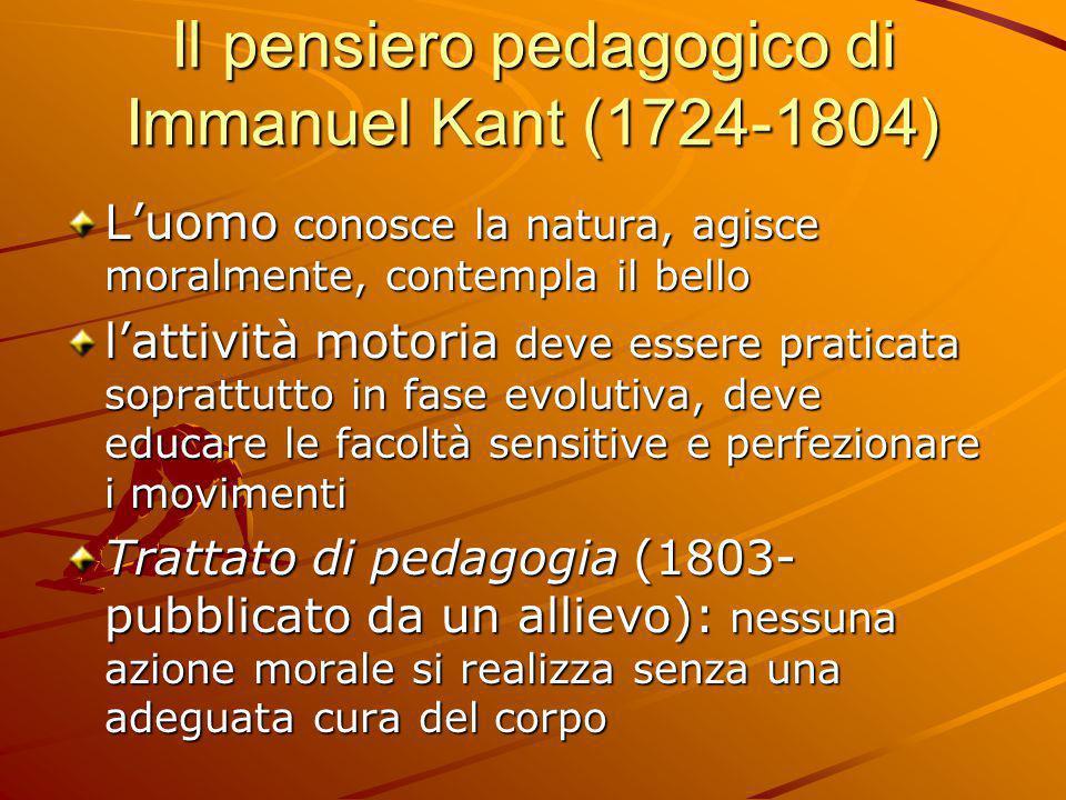 Il pensiero pedagogico di Immanuel Kant (1724-1804)