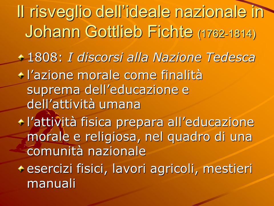 Il risveglio dell'ideale nazionale in Johann Gottlieb Fichte (1762-1814)