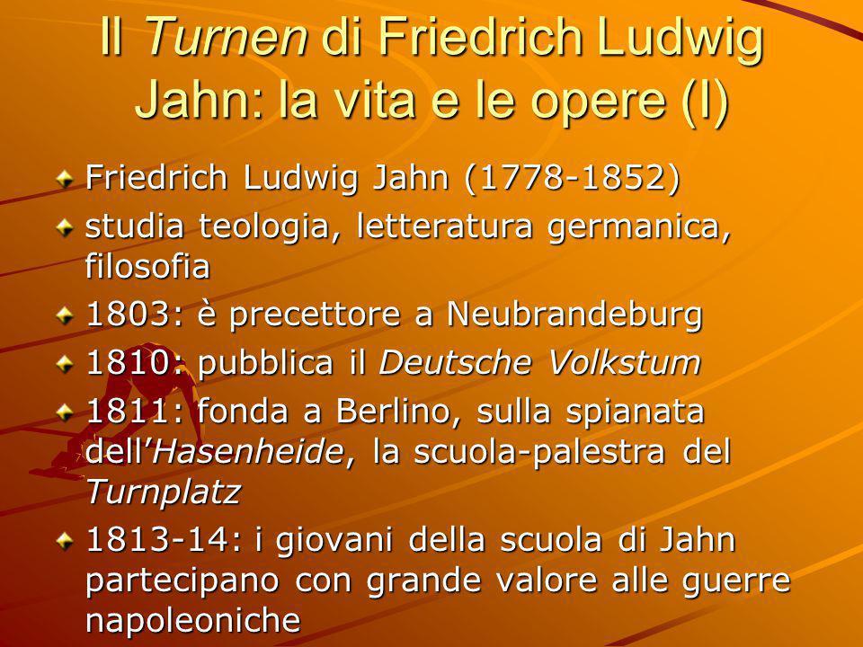Il Turnen di Friedrich Ludwig Jahn: la vita e le opere (I)