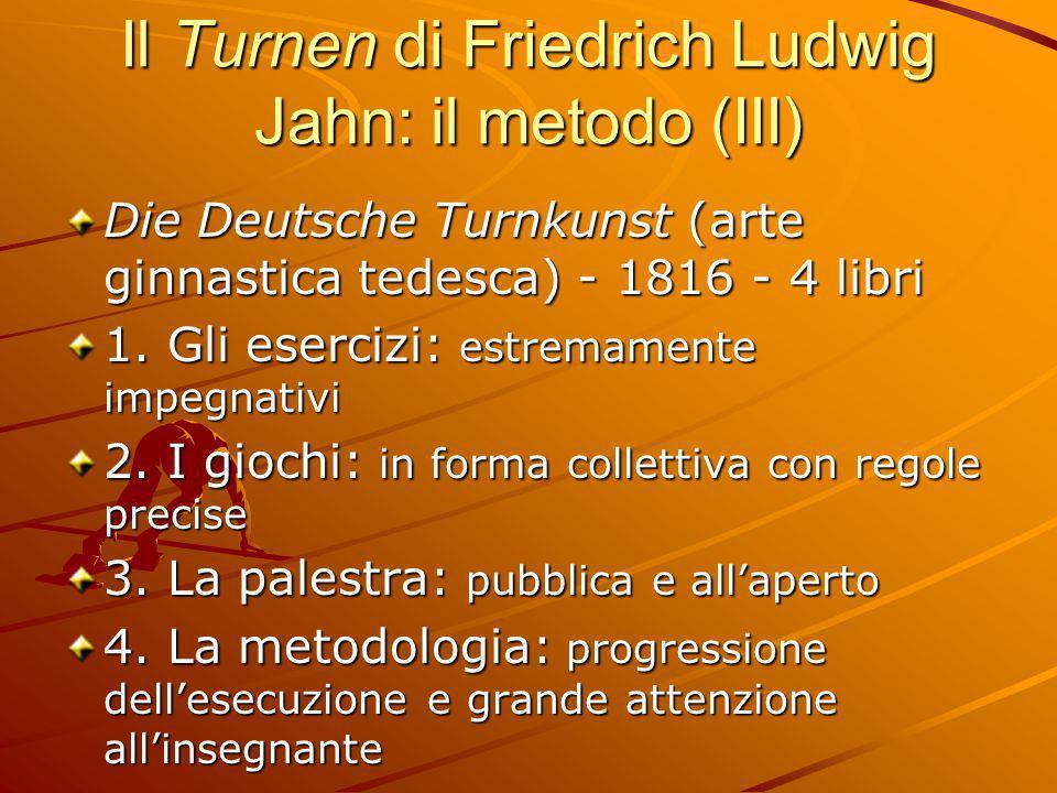 Il Turnen di Friedrich Ludwig Jahn: il metodo (III)