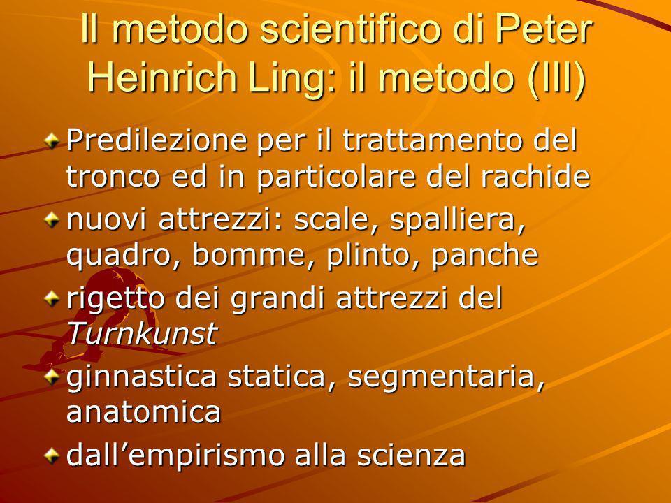Il metodo scientifico di Peter Heinrich Ling: il metodo (III)
