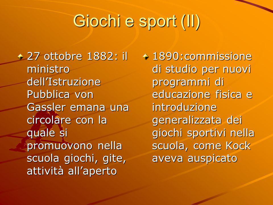 Giochi e sport (II)