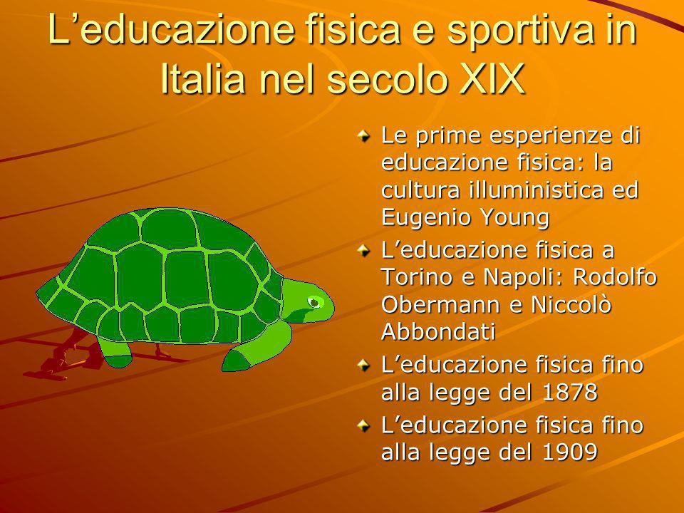 L'educazione fisica e sportiva in Italia nel secolo XIX