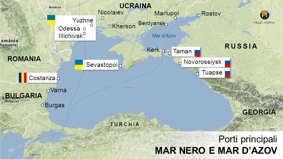 Porti principali MAR NERO E MAR D'AZOV