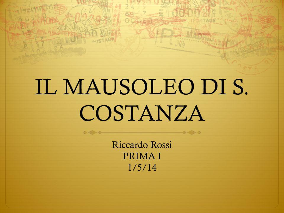 IL MAUSOLEO DI S. COSTANZA
