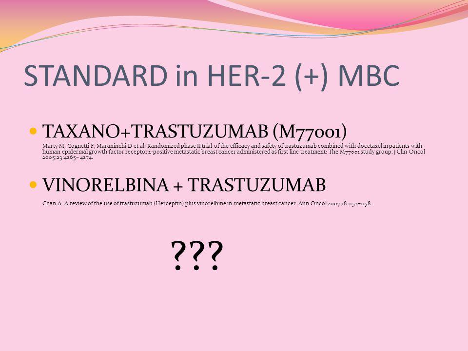 STANDARD in HER-2 (+) MBC