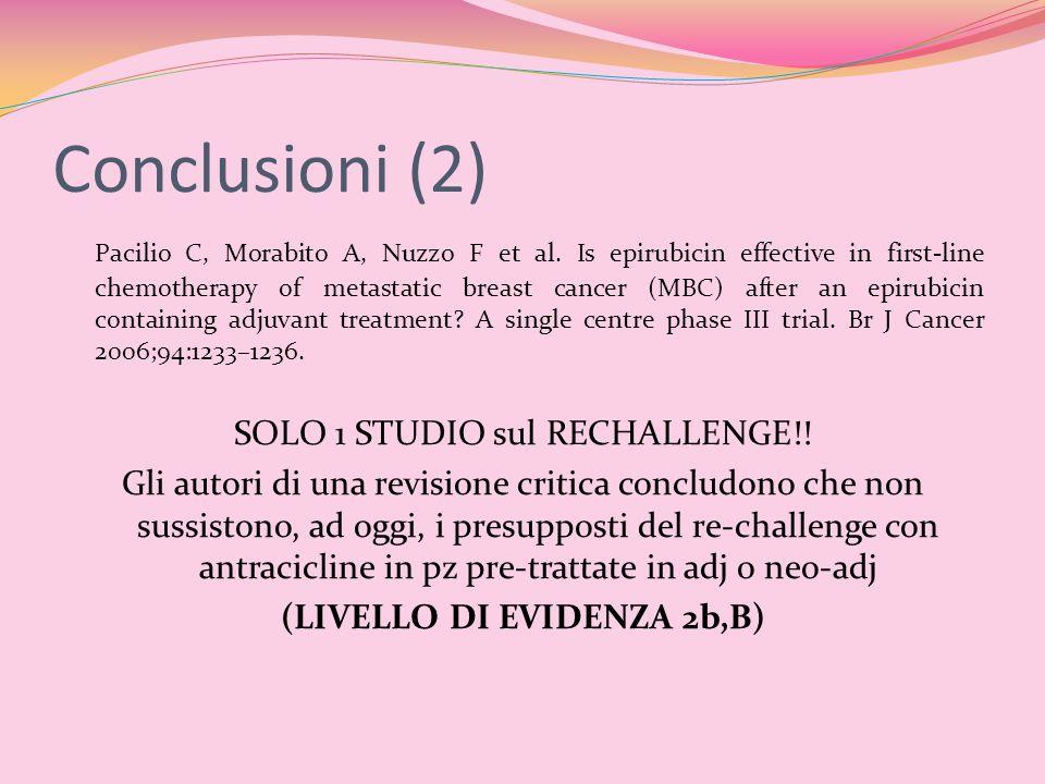 (LIVELLO DI EVIDENZA 2b,B)