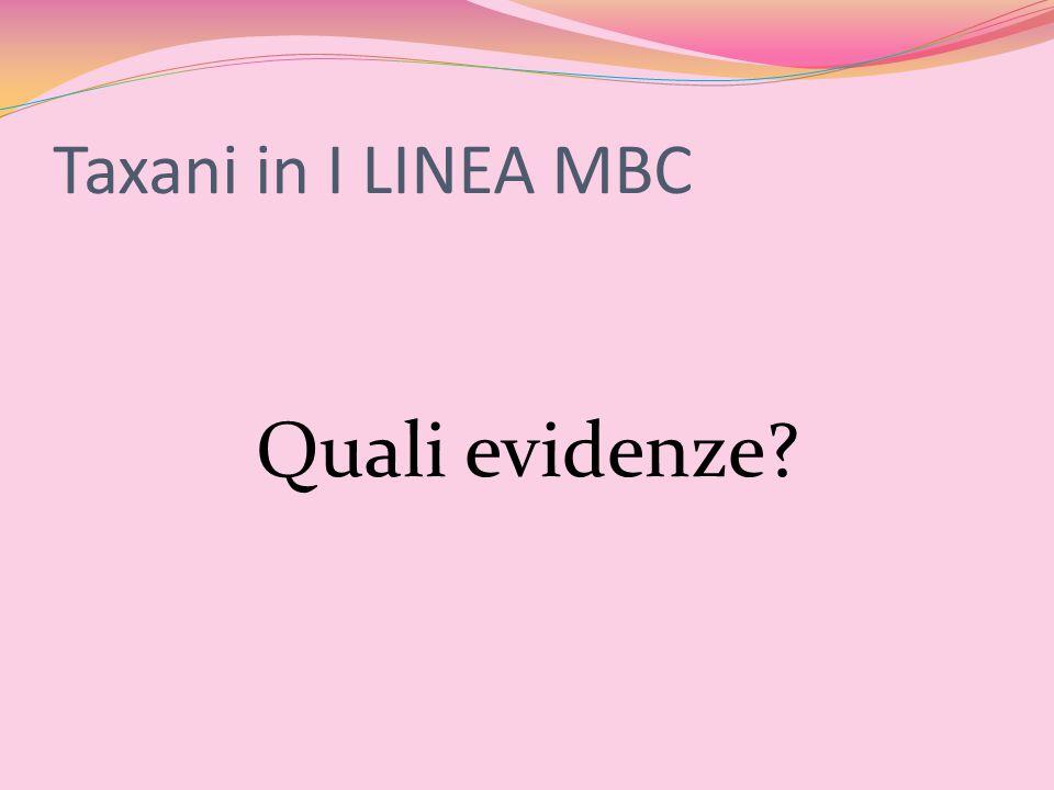 Taxani in I LINEA MBC Quali evidenze