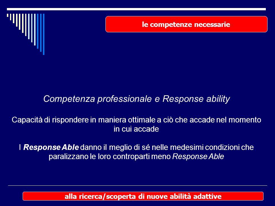Competenza professionale e Response ability
