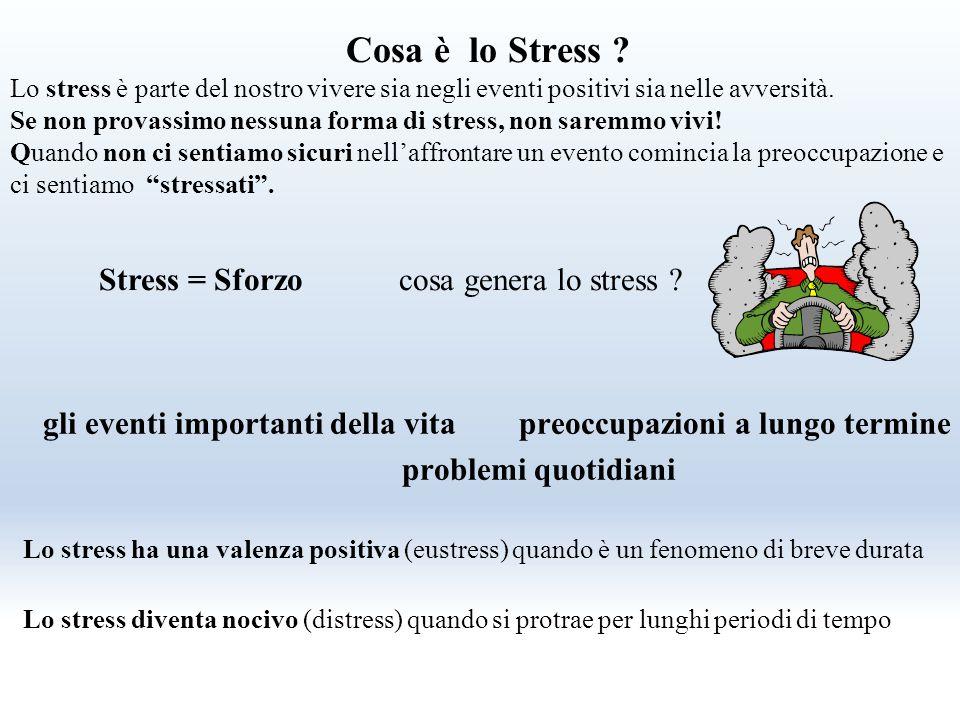 Stress = Sforzo cosa genera lo stress