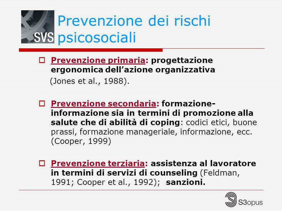 Prevenzione dei rischi psicosociali