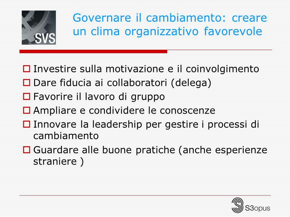 Governare il cambiamento: creare un clima organizzativo favorevole