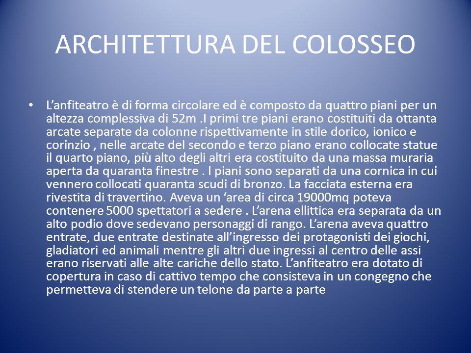 ARCHITETTURA DEL COLOSSEO