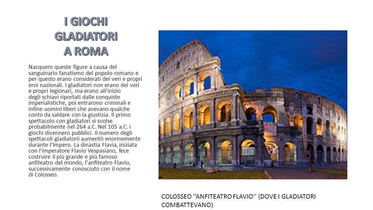 I GIOCHI GLADIATORI A ROMA