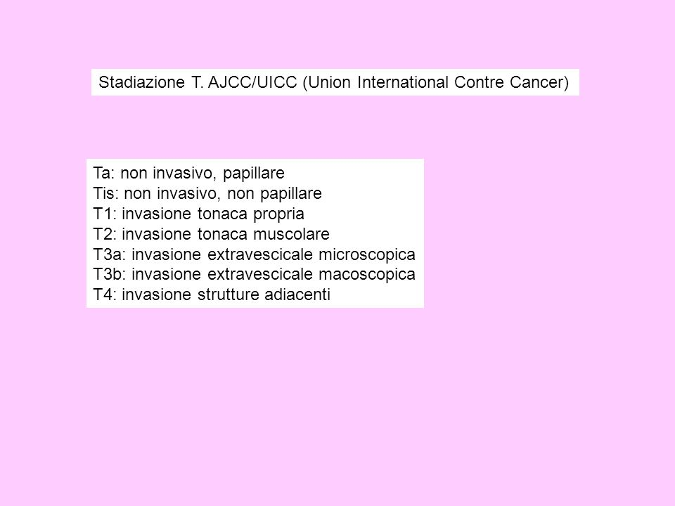 Stadiazione T. AJCC/UICC (Union International Contre Cancer)