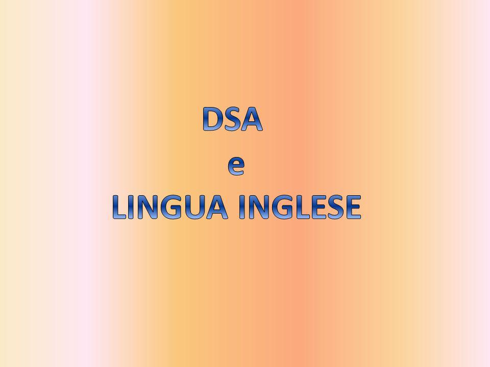 DSA e LINGUA INGLESE