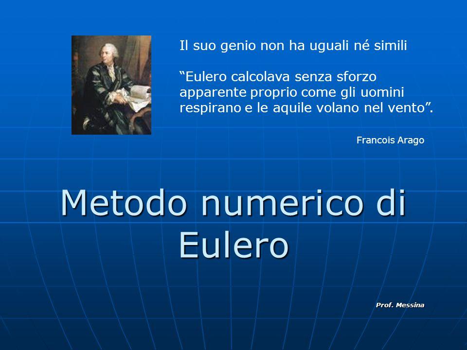 Metodo numerico di Eulero