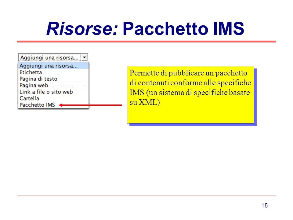 Risorse: Pacchetto IMS