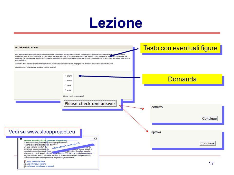 Lezione Testo con eventuali figure Domanda Vedi su www.sloopproject.eu