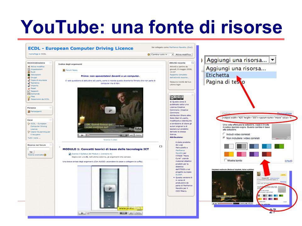 YouTube: una fonte di risorse