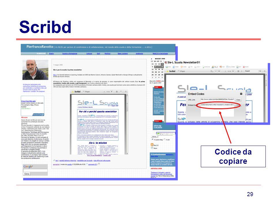Scribd Codice da copiare