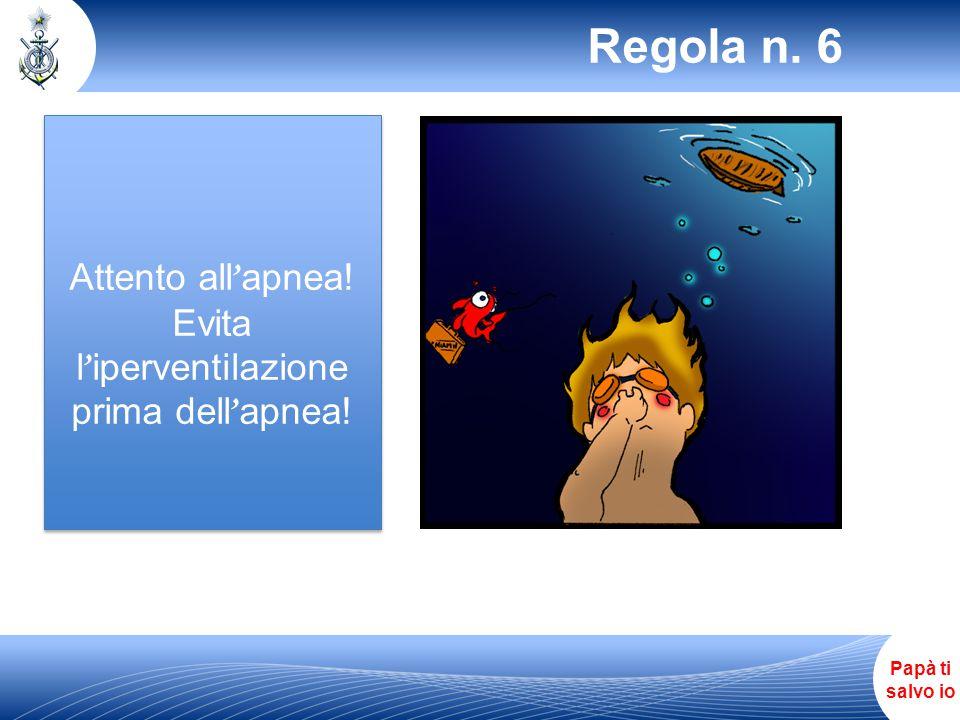 Evita l'iperventilazione prima dell'apnea!