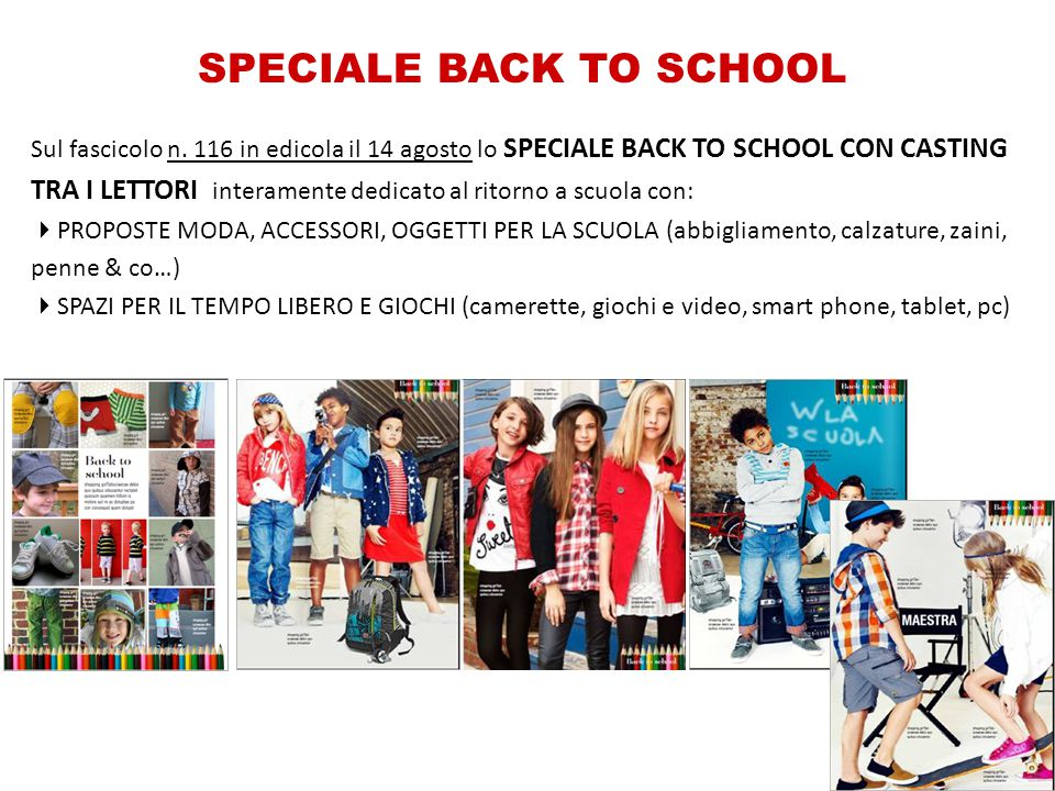 SPECIALE BACK TO SCHOOL